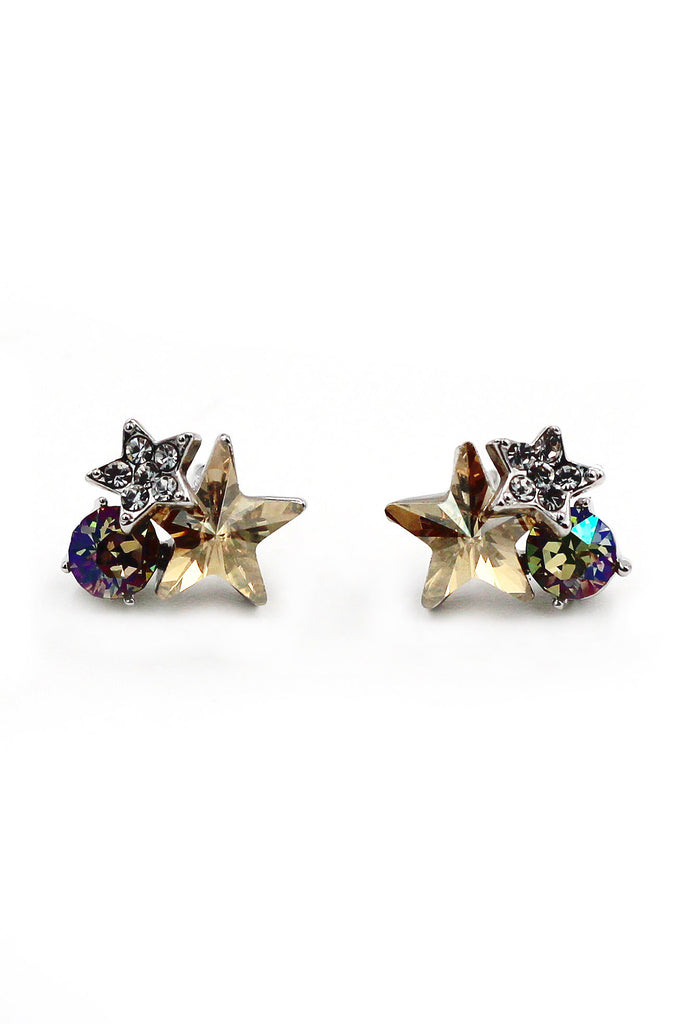 Cute star crystal earrings