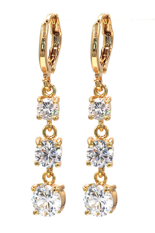 fashion bowknot qualities crystal earrings