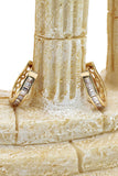 fashion golden harp crystal earrings