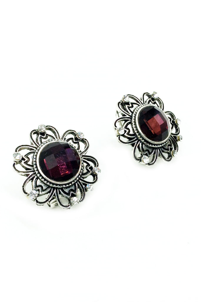 Traditional Flowers stone Earrings