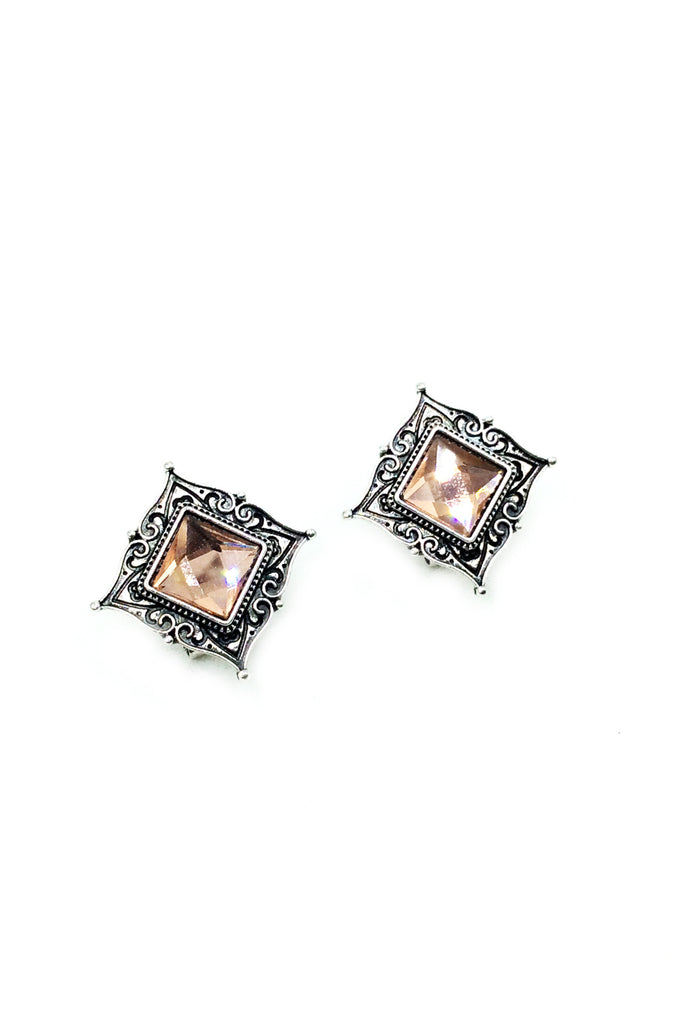 Traditional square stone Earrings
