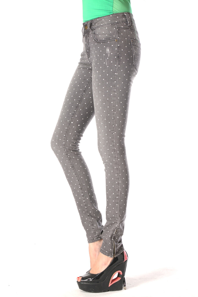Grey Polka Pants