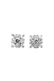 fashion wild square crystal earrings
