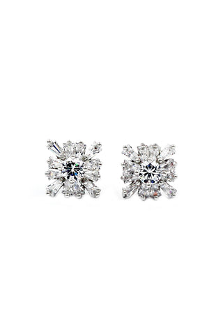lovely crystal flower earrings