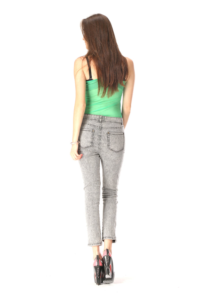 Contemporary Stripe Ankle Pants