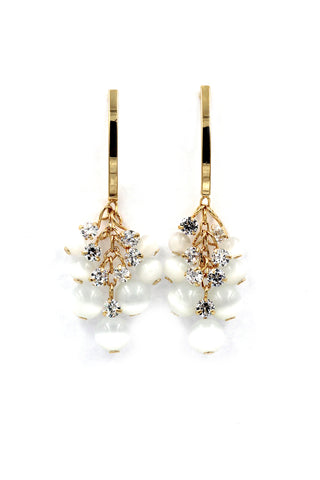 mini heeled shoes crystal earrings