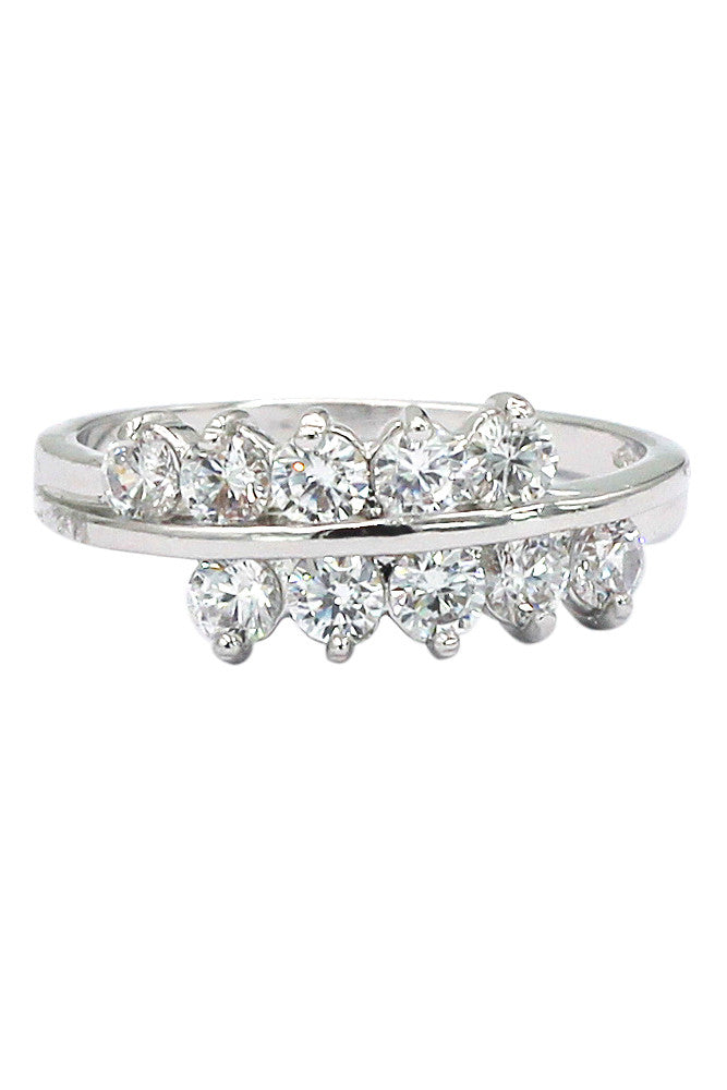 noble true love crystal lady silver ring