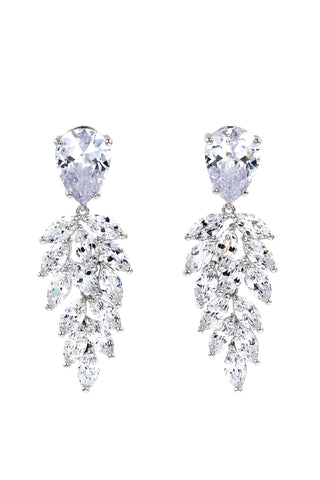 Elegant tassel crystal earrings