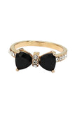 fashion crystal bow golden ring