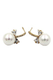 mini bow pearl necklace earring set