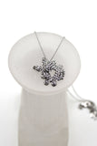 fashion butterfly crystal earring necklace set