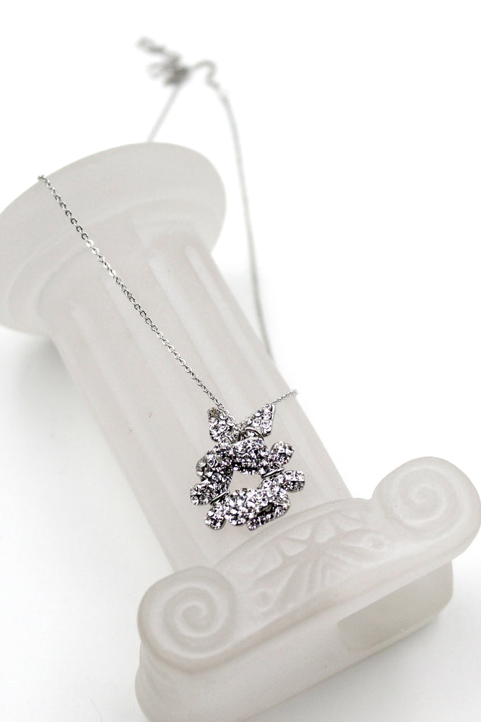 fashion butterfly crystal necklace