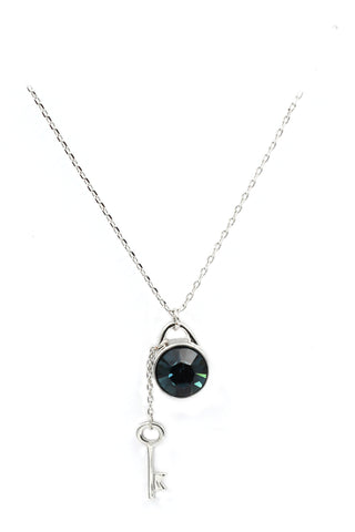 fashion clear blue crystal necklace