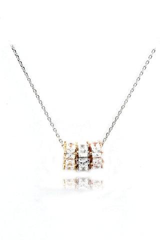 single crystal sterling silver necklace