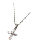 mini cross crystal necklace
