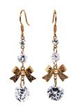 fashion pendant bow crystal earrings