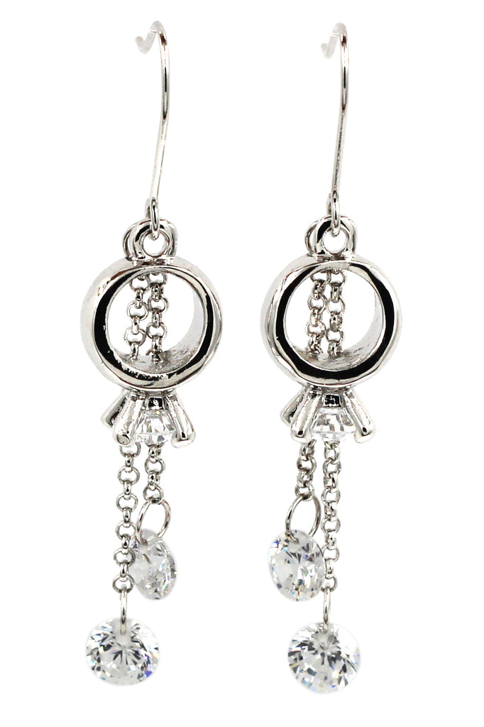 little pendant ring crystal earrings