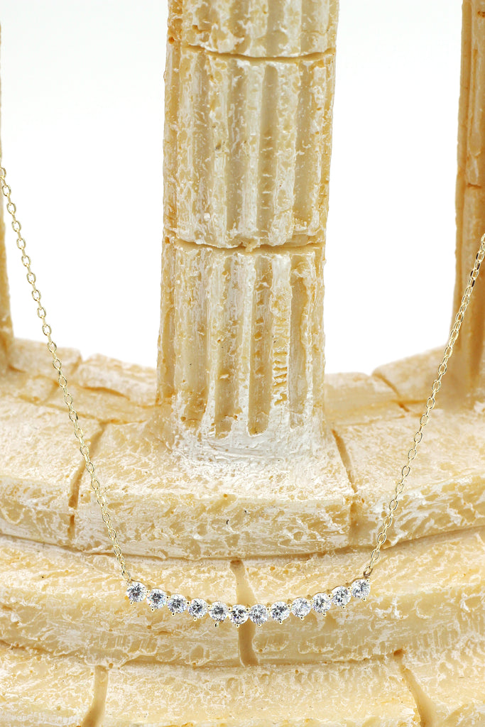 pavé crystal word clasp necklace
