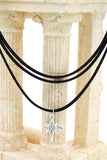 fashion three-chain crystal hexagram choker