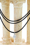 fashion three-chain crystal pendant key choker