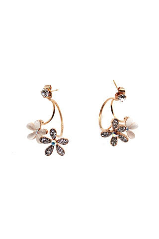 Popular crystal gold earrings