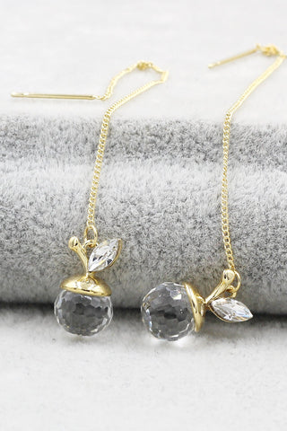 long temperament swarovski crystal earrings