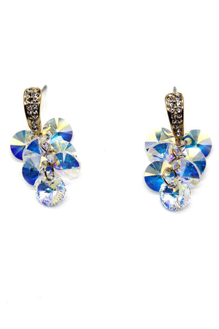 Lovely lady bow crystal earrings