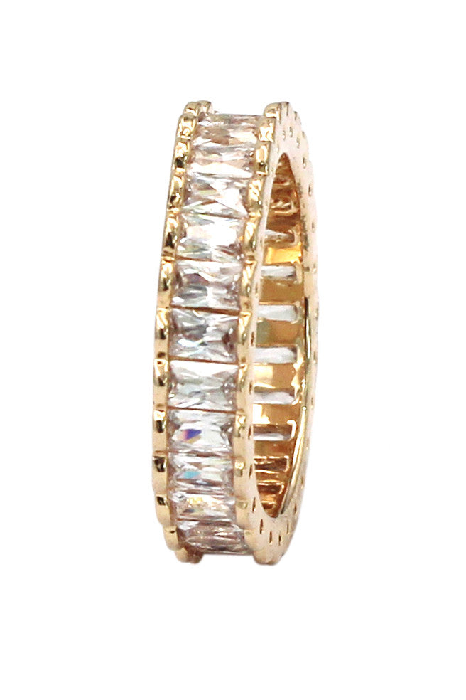 fashion crystal row ring