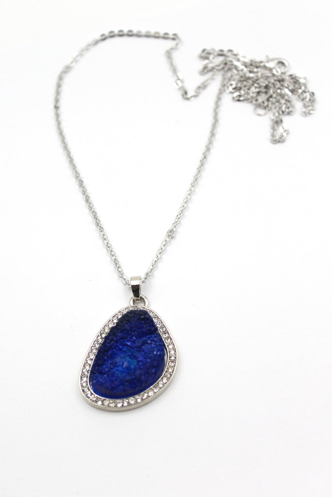 large crystal pendant necklace