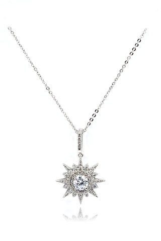 wild star rice crystal necklace