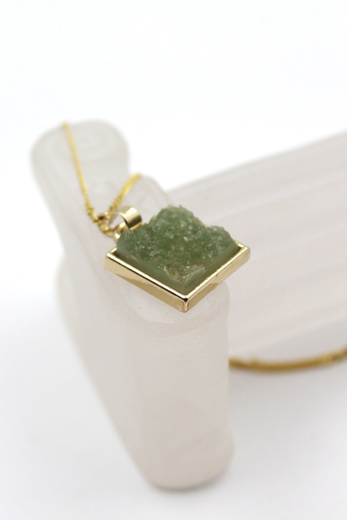 square crystal original necklace