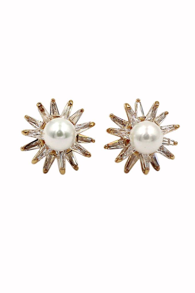 cabinet pearl and crystal earrings