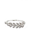 fashion delicate leaf crystal ring