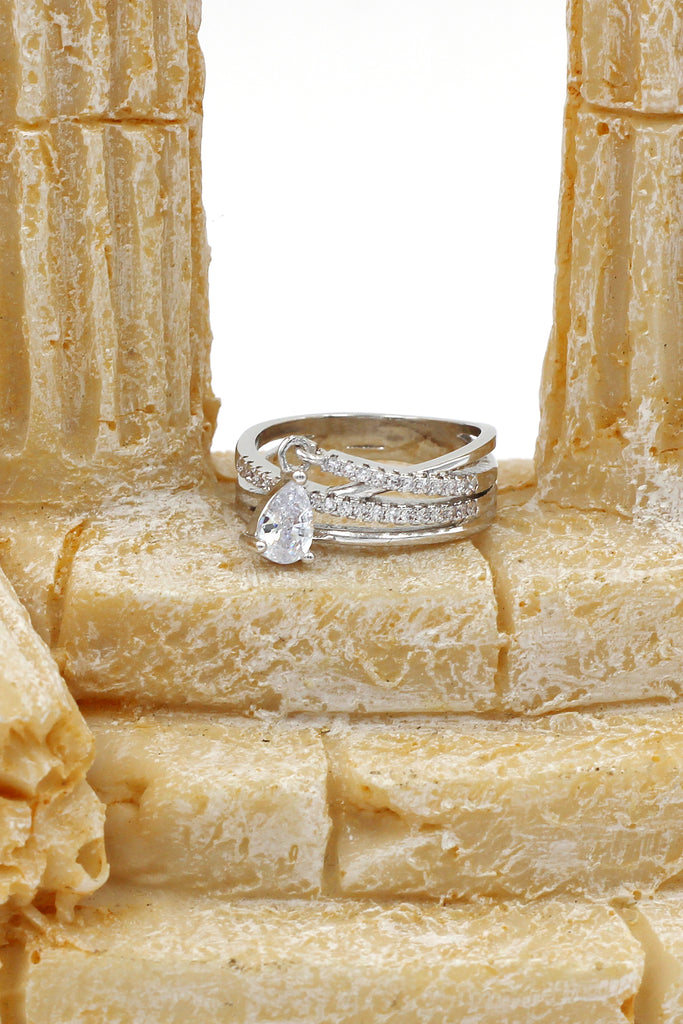 fashion multilayer crystal ring
