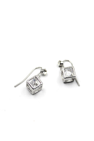 shiny  pendant ice crystals earrings
