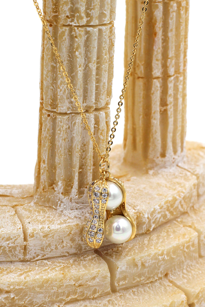 Peanut shape exquisite pearl necklace