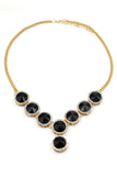 fashion black crystal necklace