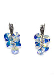 shining pendant swarovski crystal earrings