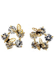 lovely double butterfly and crystal earrings