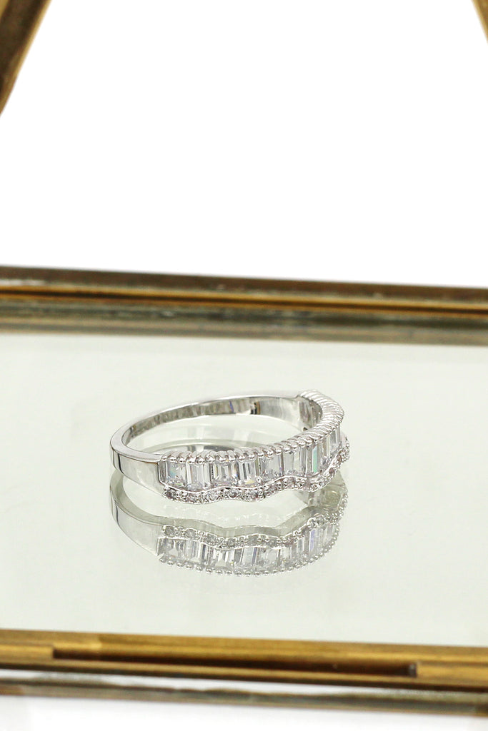 row of ladders side crystal ring
