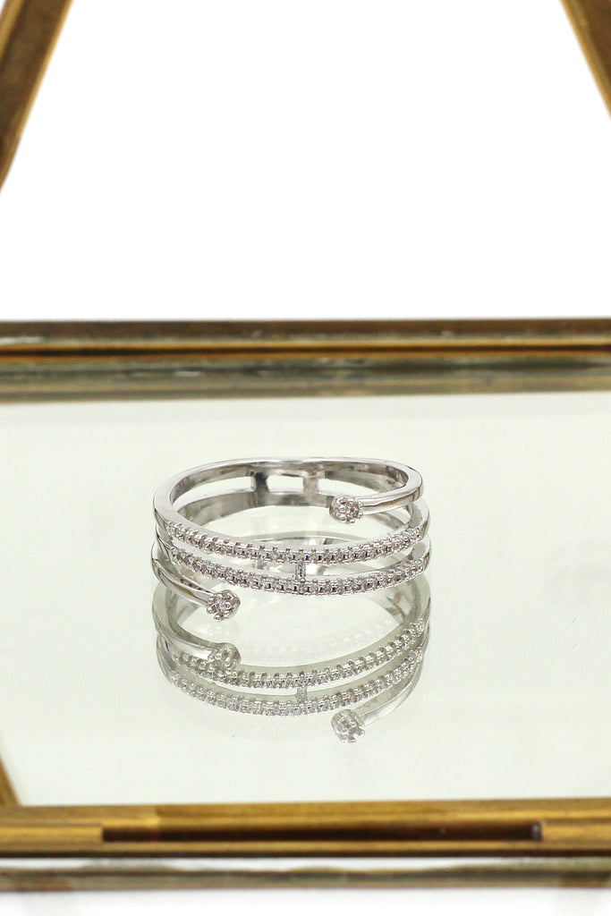 fashion double crystal ring