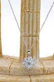shining crystal sun flower necklace earrings ring set