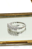 fashion small claw crystal ring