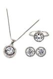 fashion wild silver crystal set