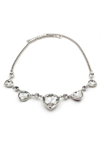 fashion silver crystal necklace