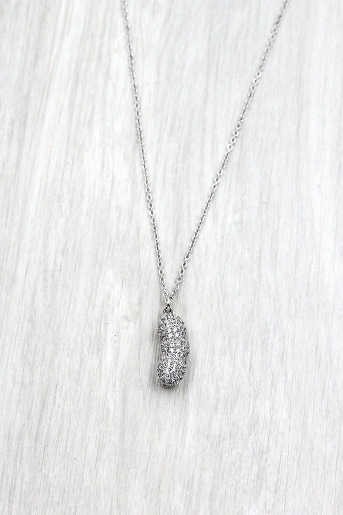 exquisite peanut crystal pendant necklace