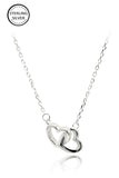 delicate sterling silver heart necklace