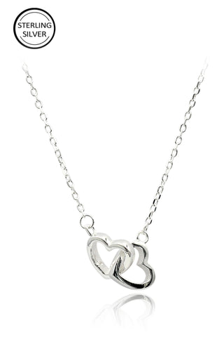 lovely crystal heart necklace
