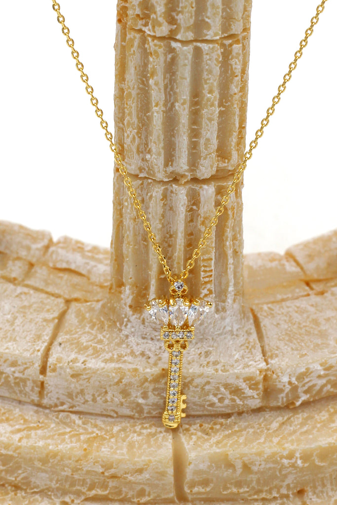 Fashion scepter key necklace