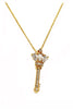 mini crystal scepter gold necklace